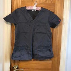 Dickies scrub top, medium grey